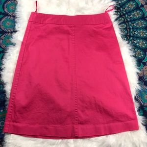 ✨BANANA REPUBLIC✨  Stretch A-Line Pink Skirt Sz 2